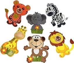 AVELLIM 12 Large Safari Jungle Zoo Animals (7.5