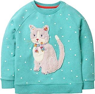 Bumeex Toddler Girl Cotton Cute Cartoon Pink Sweatshirt The Hedgehog and The Fox 2-7T