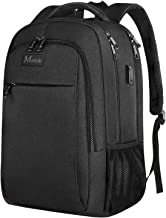Anti Theft Laptop Backpack, Business Travel Laptop Backpack with USB Charging Port for Women and Men, Water Resistant College School Computer Backpack Daypack Fits 15.6 Inch Laptop and Notebook