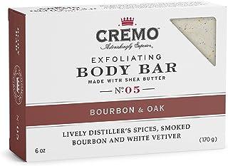 Cremo Exfoliating Body Bar With Shea Butter - Bourbon & Oak, 180ml