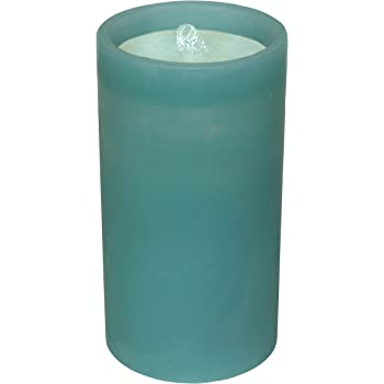 GKI Bethlehem Lighting Aquaflame Outdoor Flameless Candle/Fountain with Remote, Teal (82650)