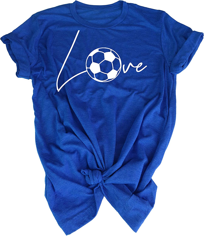 Soccer Tee Shirt - Love Soccer Ball - Gift t-Shirt for Teen Girl Soccer Player