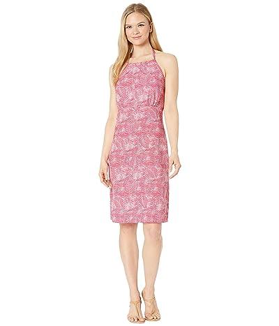 Columbia Armadaletm II Halter Top Dress (Bright Geranium Wave Leaves) Women