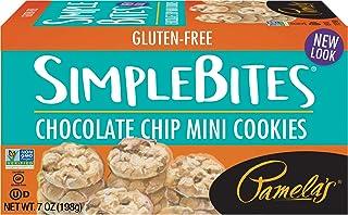 Pamela's Products Gluten Free Simplebites Mini Cookies, Chocolate Chip, 7 Oz