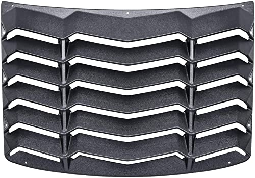 CUMART Rear Window Louvers Windshield Sun Shade Cover Lambo Style Matte Black Compatible with Chevrolet Chevy Camaro ...