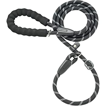 iYoShop 6FT Extremely Durable Slip Dog Rope Training Leash with Comfortable Padded Handle and Highly Reflective Threads Quality Slip Lead for Medium and Large Dogs
