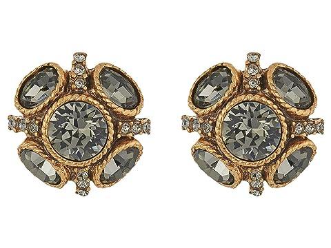 Oscar de la Renta Classic Button P Earrings