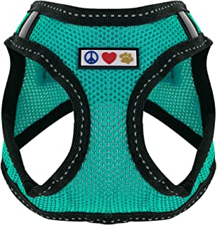Pawtitas Pet Reflective Mesh Dog Harness, Step in or Vest Harness, Comfort Training Walking of Your Puppy/Dog XXS Extra Ex...