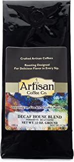 Decaf House Blend Artisan Fresh Ground Coffee Available in (10) Flavors
