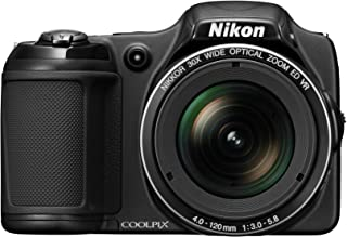 Nikon COOLPIX L820 16 MP CMOS Digital Camera with 30x Zoom Lens and Full HD 1080p Video (Black) (OLD MODEL)
