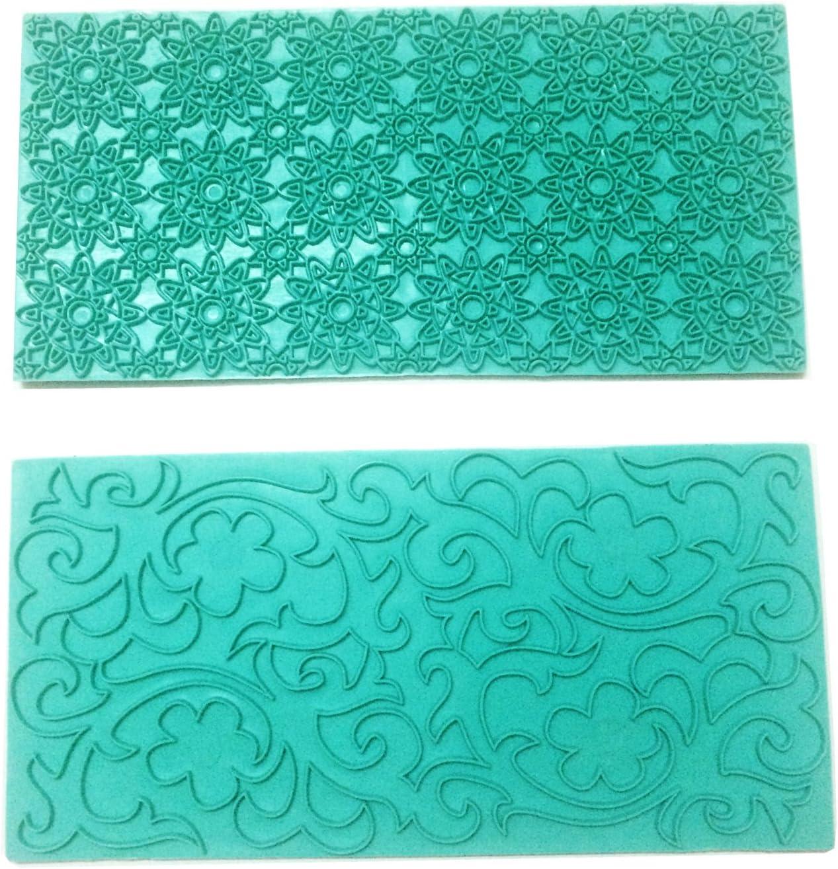 Max 76% OFF Gobaker Dallas Mall Imprint Mat Set Gumpaste deisgn Fondan Mold Press Flower