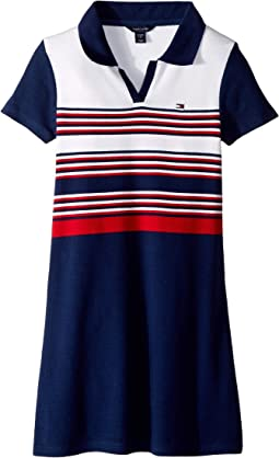Yarn-Dye Rib Polo Dress (Big Kids)