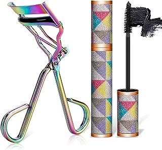 Eyelash Curler with waterproof mascara & Satin Bag & Refill Pads,No Pinch Design Lash Curling Tool Set for Eye Safety & Stunning Eyelashes(Multicolour)
