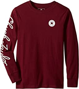 Chuck Taylor Script Long Sleeve Tee (Big Kids)