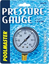 Poolmaster 36670 Pressure Gauge for Swimming Pool or Spa Filter, 1/4-Inch, Bottom Mounted Thread