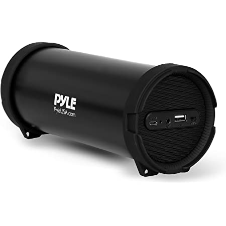 Pyle Surround Portable Boombox Wireless Home Speaker Stereo System, Built-in Rechargeable Battery, MP3/USB/FM Radio with Auto-Tuning, Aux Input Jack for External Audio. (PBMSPG6) Black