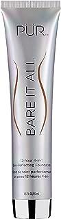 PÜR Bare It All 4-in-1 Skin-Perfecting Foundation, Golden Dark, 1.5 Oz