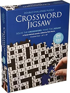 Crossword Jigsaw Puzzle - Solve the Crossword - Finish the 550 Piece Floor Puzzle (24'' x 18'')