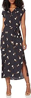 Women's Lovely Ways Button Front Midi Dress