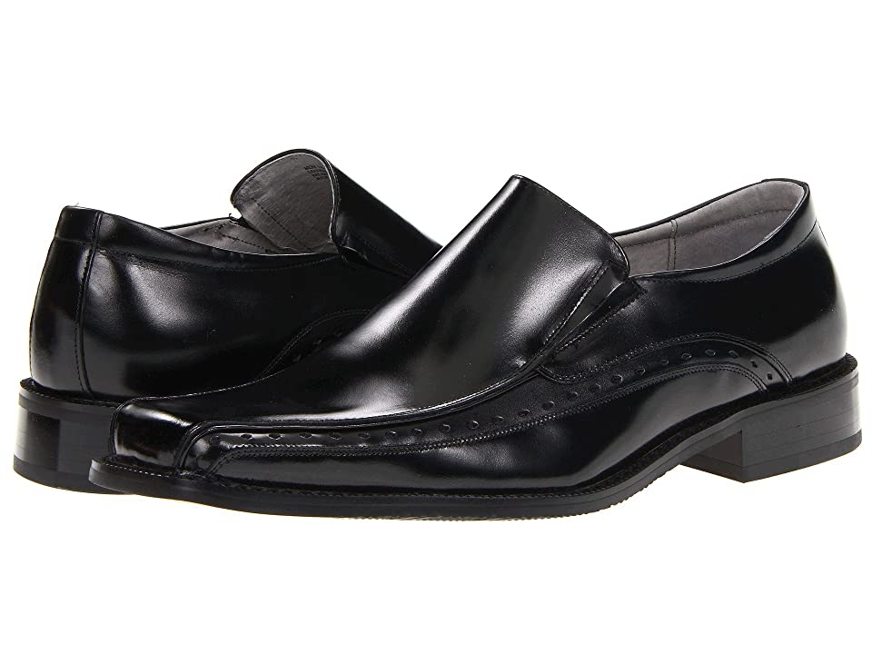 Stacy Adams Danton Bike Toe Slip On Loafer (Black) Men