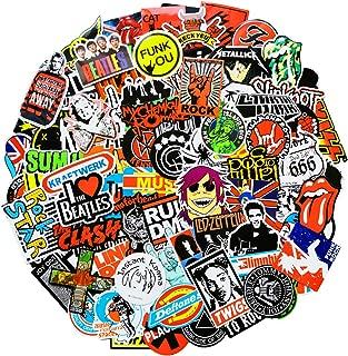 Band Stickers Pack Rock Roll Stickers Decals Laptop Cars Guitar Bumper Punk Classic Vinyl Waterproof Graffiti 100pcs (Rock)
