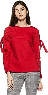 VERO MODA Women's Plain Regular Fit Cotton Top