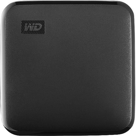 Western Digital Elements 1TB Portable SSD, 400MB/s R, for PC & MAC, Black (WDBAYN0010BBK-WESN)