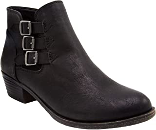 Rampage Booties for Women - Dress Womens Ankle Boots with Block Heel, Ladies Side Zip Booties & Ankle Boots with Triple Bu...