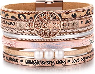 Inspirational Tree of Life Leather Bracelets for...