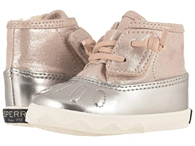 Sperry Kids Icestorm Crib (Infant/Toddler) (Blush/Silver) Girls Shoes