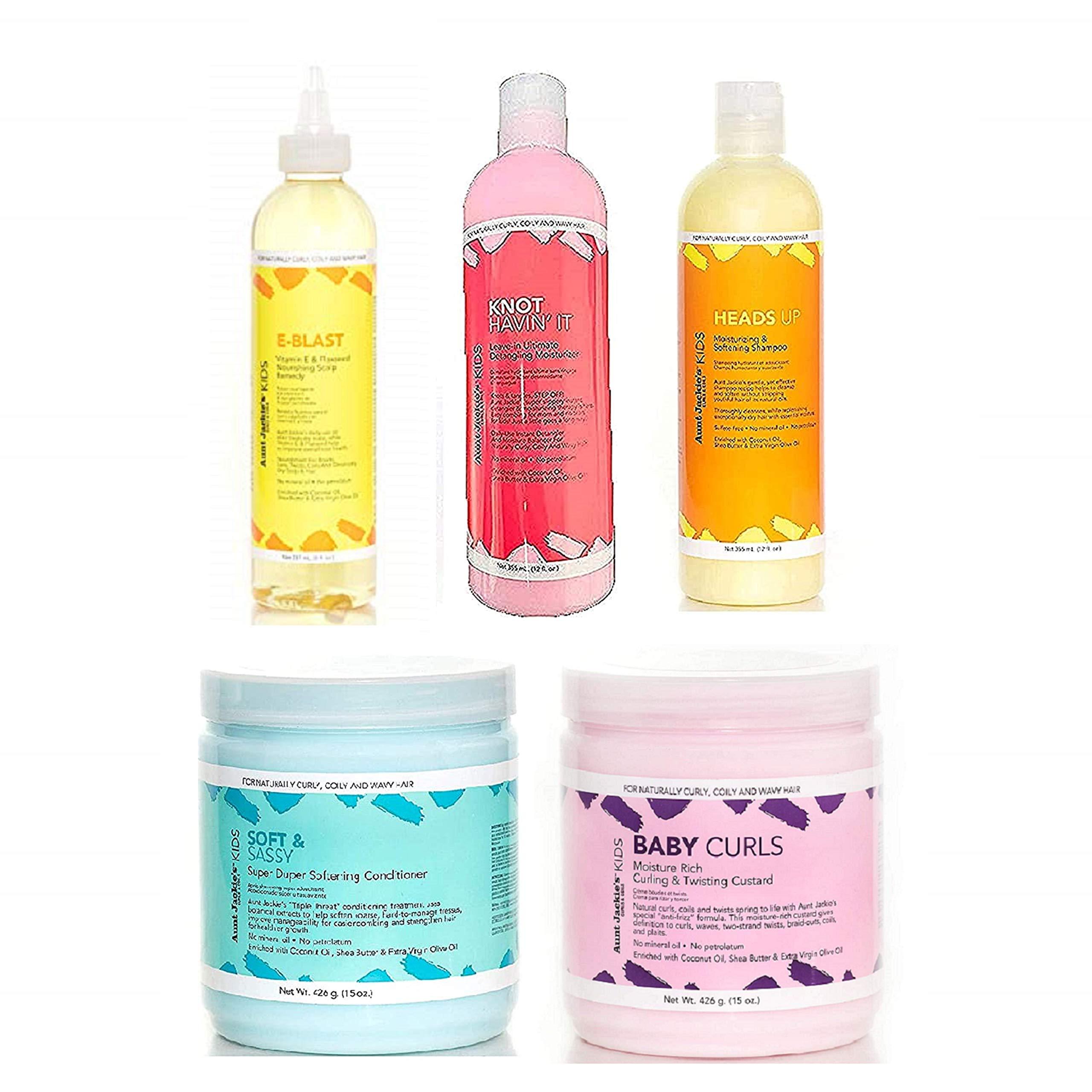 Aunt Jackie's 20 Pc Hair Set – Heads Up Shampoo + Soft & Sassy ...