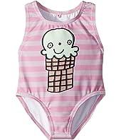Stella McCartney Kids - Molly Striped Ice Cream Print Swimsuit (Infant)