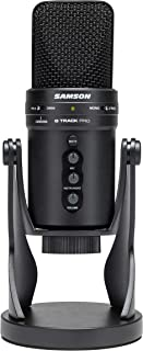 Samson G-Track Pro -Micrófono USB Profesional con Interfaz de Audio - Negro