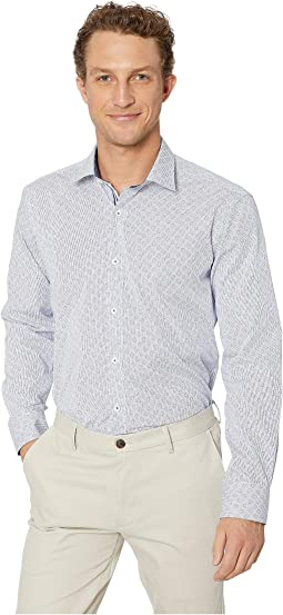 Long Sleeve Shaped Fit Button-Up Shirt