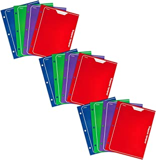 Mead Trapper Keeper 2-Pocket Portfolio, 12 x 9.38 x .12 Inches, Assorted Colors, Pack of 12