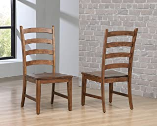 Sunset Trading DLU-BR-C80-AM-2 Simply Brook Dining Chair, Amish Brown