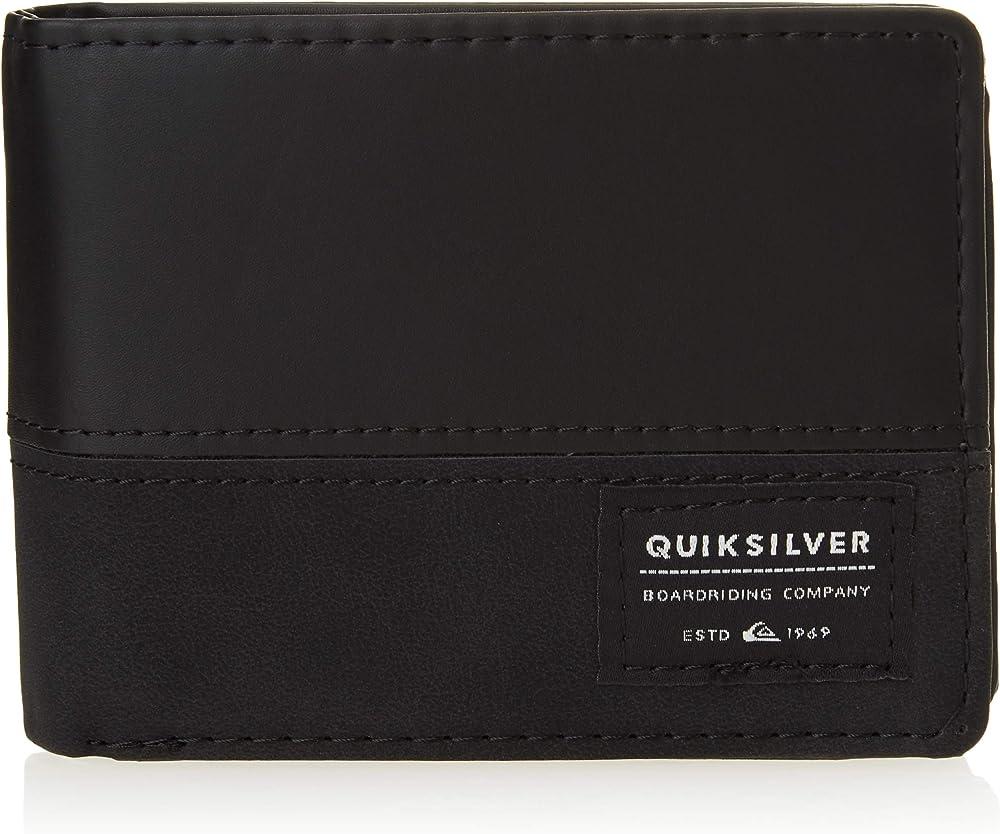 Quiksilver nativecountry, porta carte di credito, portafoglio per uomo, in pelle sintetica EQYAA03905