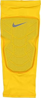 Nike Men's Pro Combat Hyperstrong Padded Basketball Knee Sleeve XX-Large Yellow Gray