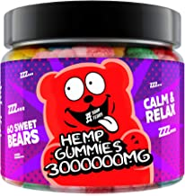 Gummies for Sleep, Pain, Anxiety, Stress & Inflammation Relief, 300 000 - High Potency - Natural Premium Oil Extract - Can...