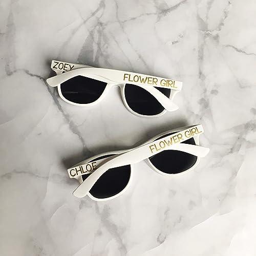 4d9b8c41a555 Kids Personalized Sunglasses   Flower Girl Ring Bearer Gift