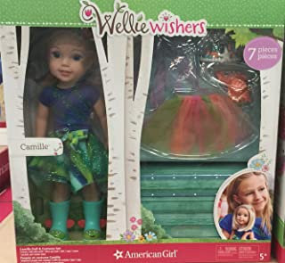 Wellie Wishers- Camille (7 piece set) includes doll and costume …