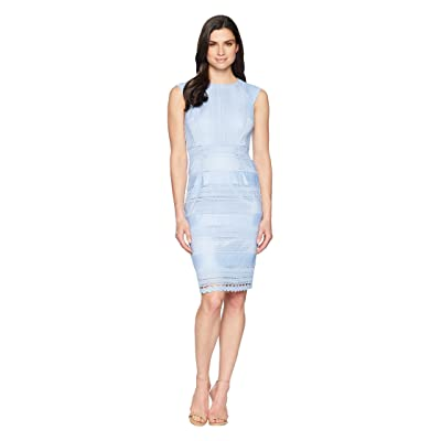 Tahari by ASL Fit To Body Chemical Lace Sheath Dress (Periwinkle) Women