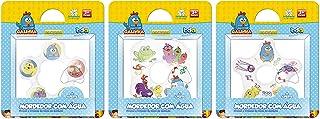 Galinha Pintadinha Mordedor de Agua (Circular, Quadrado e Estrela), Toyster Brinquedos, Colorido