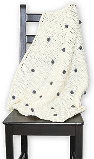 DIY crochet kit - Crochet Baby Blanket, Learn to crochet kit, baby blanket with bobbles, knit kit, baby shower gift - Augusta Blanket