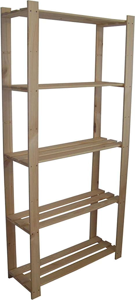 Bücherregal Ordnerregal Aufbewahrungsregal Holz Holzregal Standregal 5 Böden