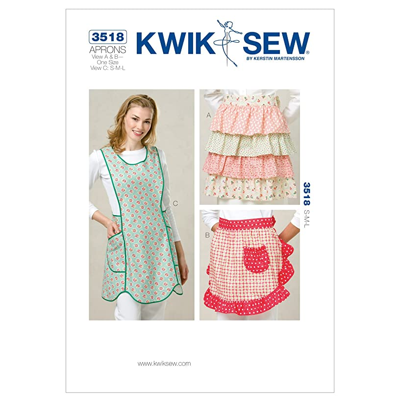 Kwik Sew K3518 Aprons Sewing Pattern, Size View A and B