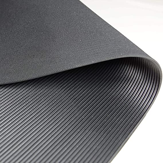 Gr/ö/ße + Farbe w/ählbar Feinriefenmatte Farbe: Schwarz 1m/² 1,0 x 1,0m St/ärke: 3mm