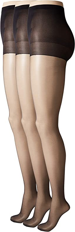 So Silky Sheer Control Top Pantyhose (3-Pack)