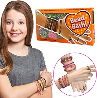 1200+ beads Jewelry Making Kit for Kids Girls Ages 6 7 8 Year Old for Make Bracelets Keychains Necklaces and More - Perfect for A Sleepover & Birthday Party & Gift