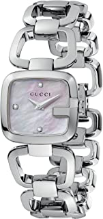 gucci mother of pearl diamond watch